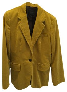 J.Crew Collection J Crew Mustard Yellow/corduroy/leather buttons Blazer
