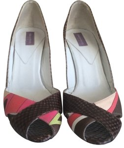 Emilio Pucci Pink And Brown Pumps
