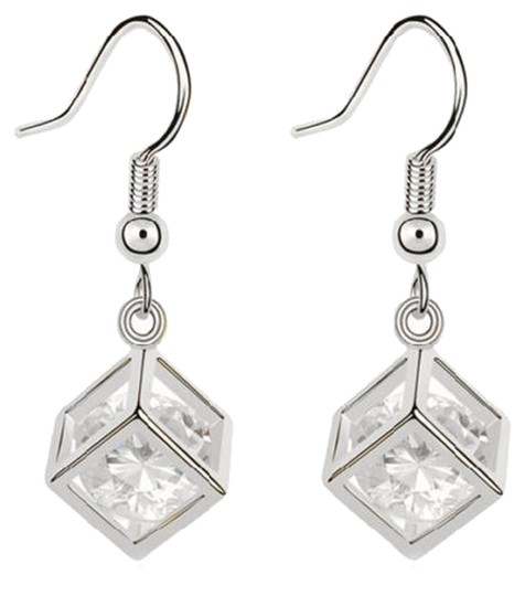 Other 9K White Gold Filled Crystal Captured in a Geometric Cube