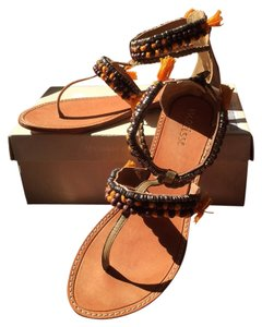 Matisse Mombasa Beaded Gladiator Pumpkin And Cocoa New Sandals