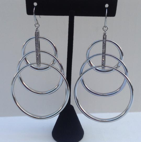 Michael Kors Michael Kors Pave Crystal Multi Hoop Ring Orbit Drop Earrings Silver