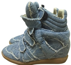 Isabel Marant Sneakers Denim Wedge Blue Athletic