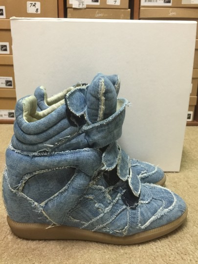 Isabel Marant Sneakers Denim Wedge Blue Athletic Image 1