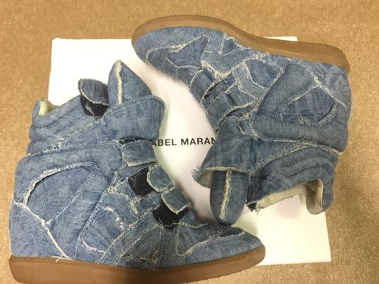 Isabel Marant Sneakers Denim Wedge Blue Athletic Image 10