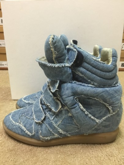 Isabel Marant Sneakers Denim Wedge Blue Athletic Image 4