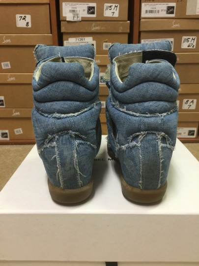 Isabel Marant Sneakers Denim Wedge Blue Athletic Image 6