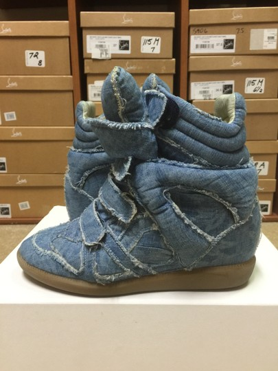 Isabel Marant Sneakers Denim Wedge Blue Athletic Image 7