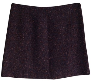 Theory Tweed Mini Wool Mini Skirt