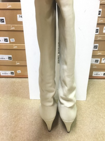 Isabel Marant Suede Wedge Leather Ivory Boots