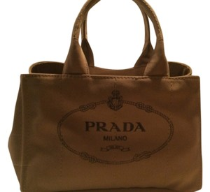 Prada Summer Beach Tote in Tabacco-Brown