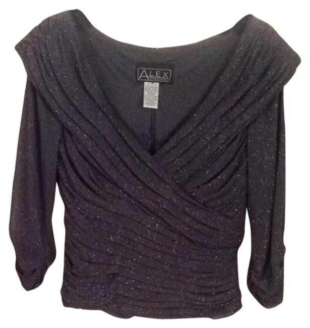 Preload https://img-static.tradesy.com/item/3880021/alex-evenings-gray-with-silver-metallic-night-out-top-size-6-s-0-0-650-650.jpg