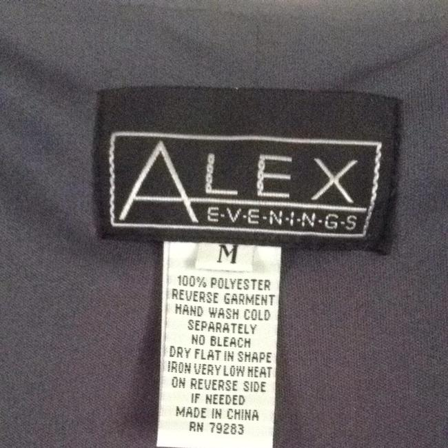 Alex Evenings Top Gray With Silver Metallic Image 2
