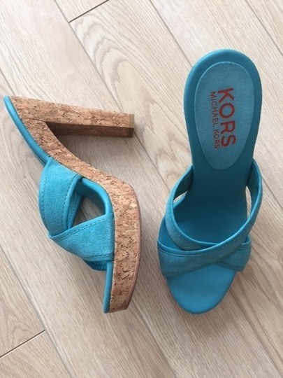 Michael Kors cyan blue Platforms