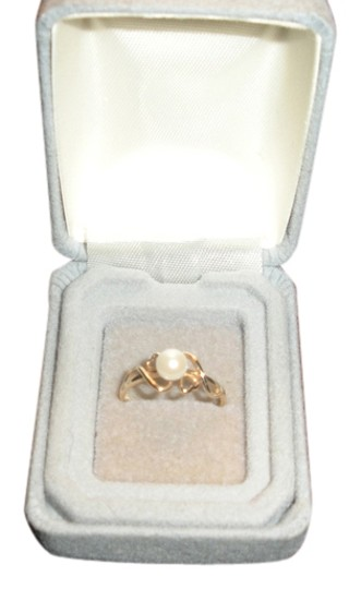 Other 10k Yellow Gold & Pearl Ring Size 7