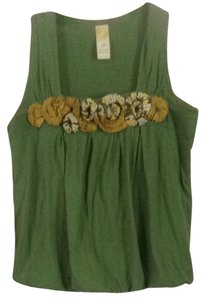 Anthropologie T Shirt Green Multi