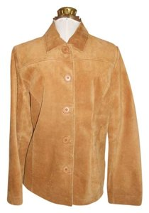 Bernardo tan Leather Jacket