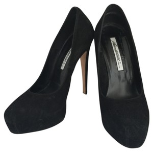 Brian Atwood Black Suede Pumps