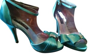 Nina Shoes Sparkle Tiffany Crystal Blue Formal