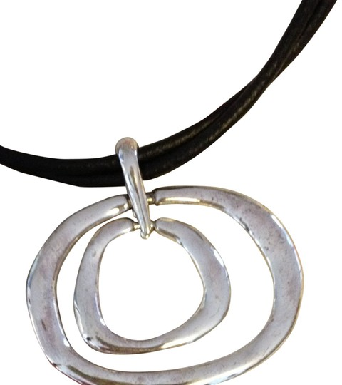 Coldwater Creek Double Silver Loop Necklace