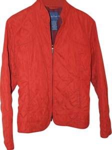 Façonnable Quilted Fitted Thin Burnt Orange Jacket