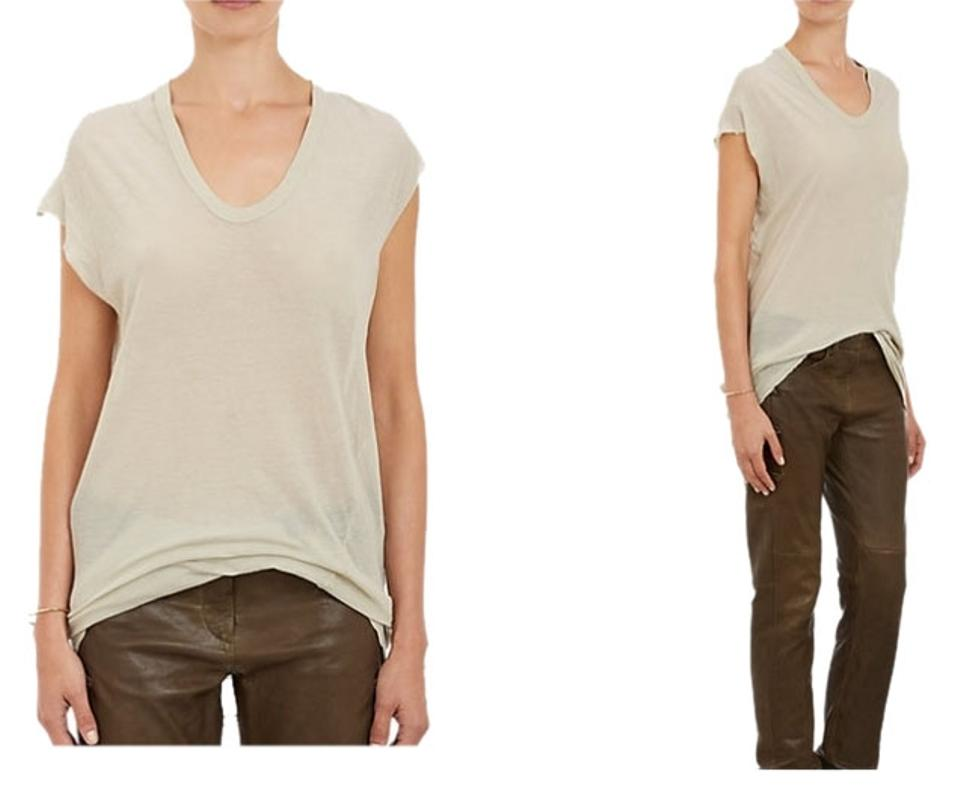 6b130cd1a Isabel Marant Beige Tissue-weight Jersey Xani Extra Small Xs Tee ...