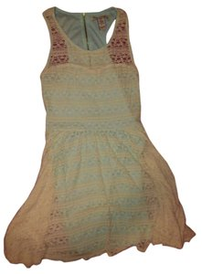 American Rag short dress light blue & cream on Tradesy