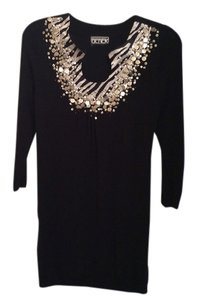 Berek Sequins In Top Black with silver