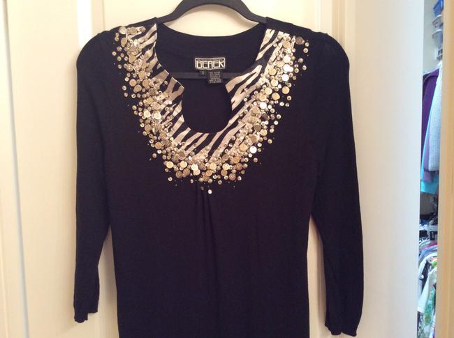 Berek Sequins In Dressy And Dressy Wear Soft Sequins Top Black with silver