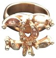 Chanel Gold Pearl With and Crystals 52 Ring Chanel Gold Pearl With and Crystals 52 Ring Image 1