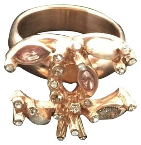 Chanel Chanel Gold Ring with Pearls and Crystals sz 52