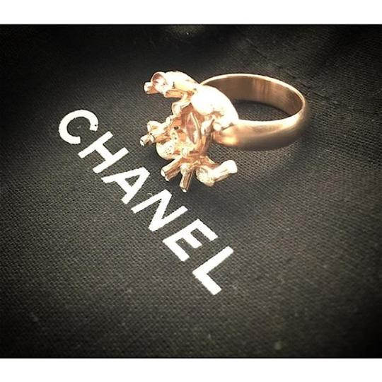 Chanel Chanel Gold Ring with Pearls and Crystals sz 52 Image 1