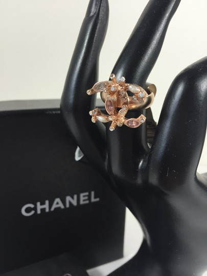 Chanel Chanel Gold Ring with Pearls and Crystals sz 52 Image 3