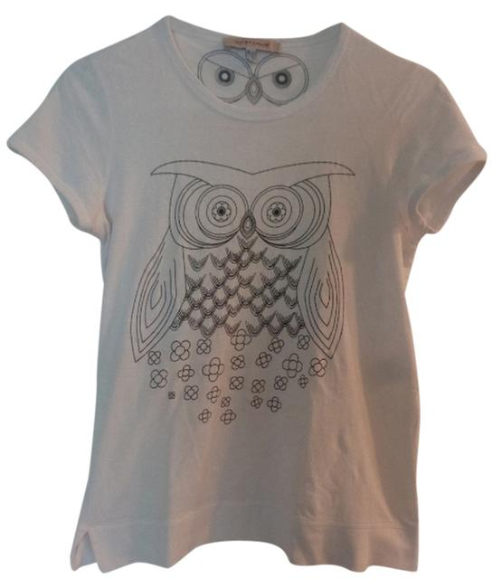 Preload https://item3.tradesy.com/images/see-by-chloe-white-owl-print-tee-shirt-size-2-xs-3880867-0-0.jpg?width=400&height=650
