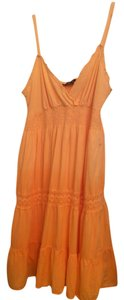 short dress Light orange Summer on Tradesy