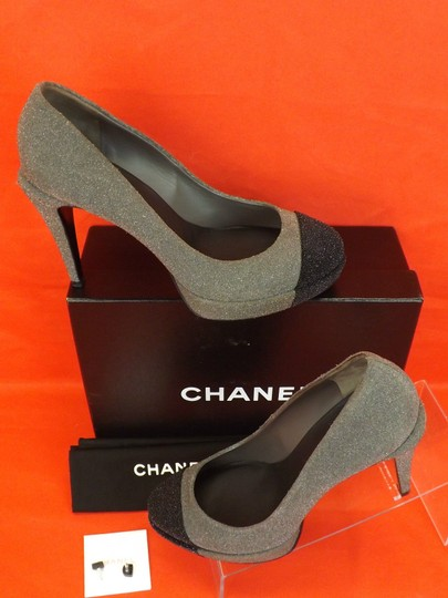 Chanel Gray Pumps Image 2