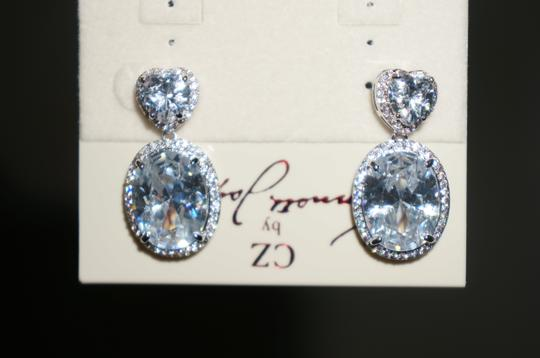 Kenneth Jay Lane Kenneth Jay Lane CZ Brilliance Heart Shape Dangle Earrings