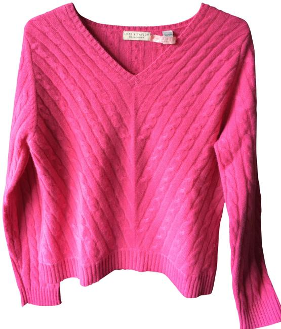 Preload https://img-static.tradesy.com/item/388209/lord-and-taylor-hot-pink-cashmere-sweaterpullover-size-12-l-0-0-650-650.jpg