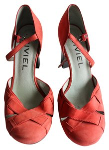 Bivel Orange Pumps