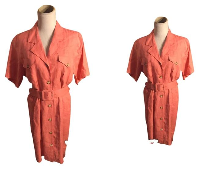 Preload https://img-static.tradesy.com/item/3882427/brooks-brothers-salmon-classic-vintage-workoffice-dress-size-10-m-0-0-650-650.jpg