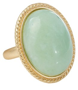 Kenneth Jay Lane Kenneth Jay Lane Amazonite Oval Adjustable Ring