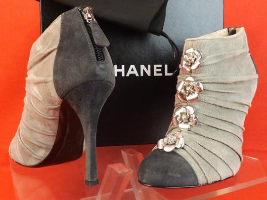 Chanel Grey/Dark Gret Boots