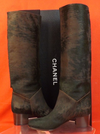 Chanel Brown/Black Boots