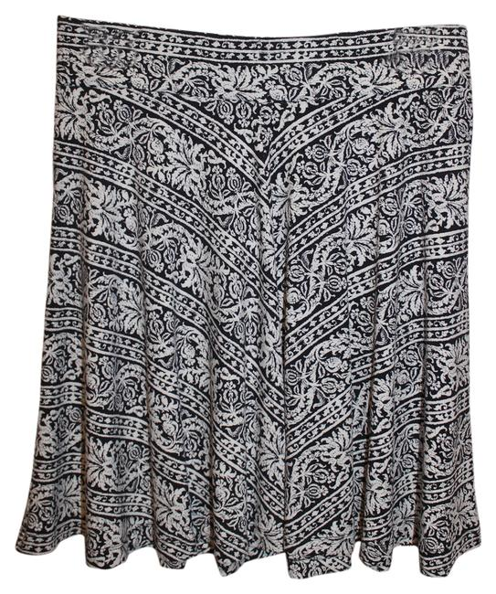Ann Taylor LOFT Skirt Black/white