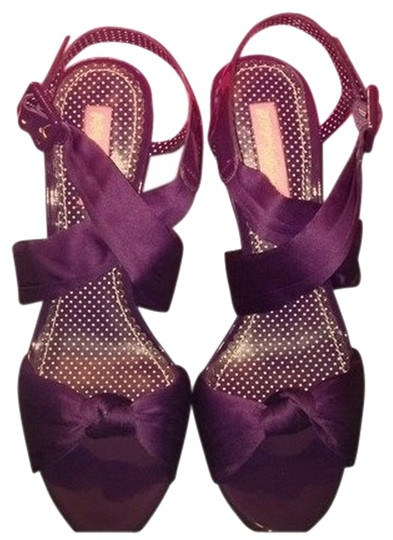 Betsey Johnson Purple Satin Sandals
