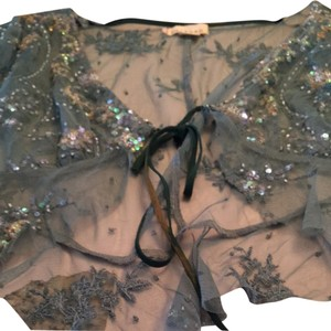 Anthropologie Top Black And Gold