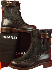 Chanel Navy/Dark Green Boots