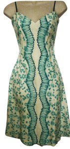Tracy Reese short dress Off-White / Aqua Silk on Tradesy