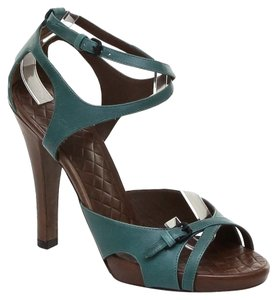 Bottega Veneta Green Platforms