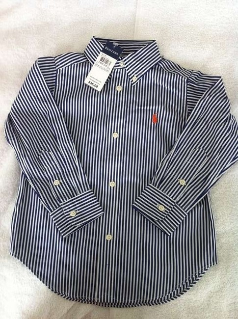 Polo Ralph Lauren Set Of 3 Long Sleeve Tops All Cotton (1) Blue/Darkblue Rugby Style 2 Button Collared Shirt (1) Blue/Maroon Rugby Style Button Down Shirt