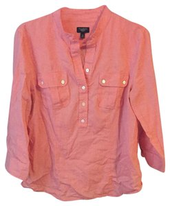 Talbots Button Down Shirt Salmon